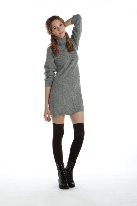 Vestido de lana y medias bucaneras | Ropa | Sweater ...