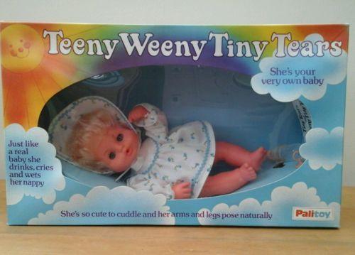 Boxed-Vintage-Palitoy-Teeny-Weeny-Tiny-Tears-doll-very-rare-mint