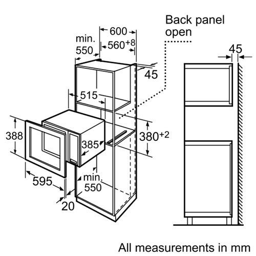 microwave oven dimensions google