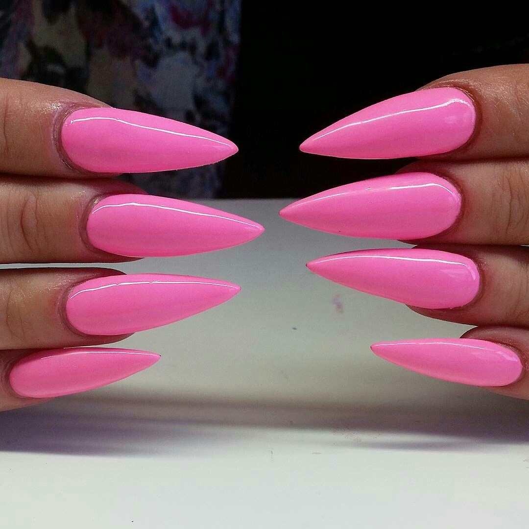 Pin By Paris Smith On Claws Barbie Pink Nails Stiletto Nails Designs Swag Nails