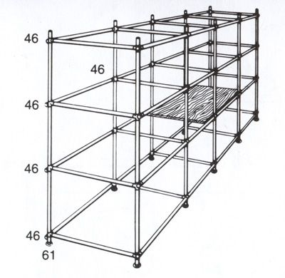 Project to build a shelving rack out of Kee Klamp*** maybe