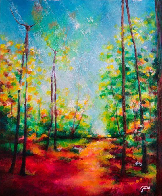 Treefolk Fantasy Landscape Painting by Claudelle Girard