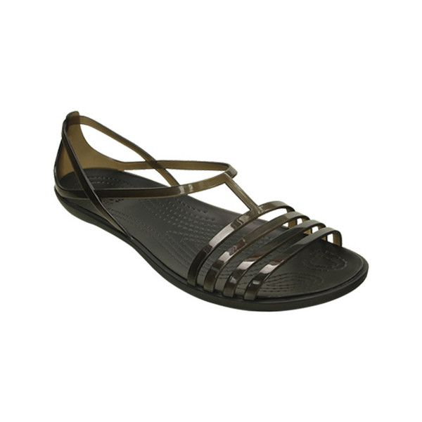 0d2a82a77b92 Women s Crocs Isabella Sandal - Black Casual (538.925 IDR) ❤ liked on Polyvore  featuring shoes