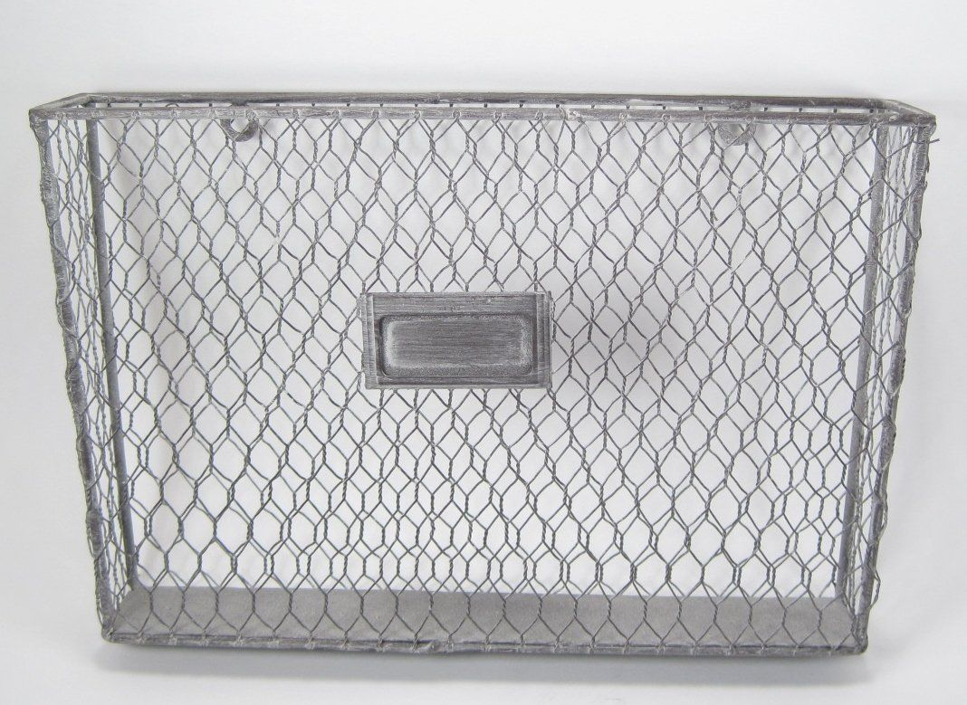 Amazon.com : Rustic Country Style Chicken Wire Metal Wall Pocket ...
