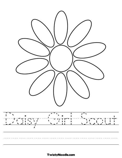 Daisy Petals Worksheets Could Print New Sheet With Each Petal