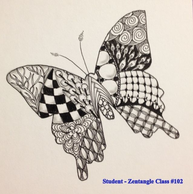 Zentangle patterns for beginners bing images art for Drawing patterns for beginners
