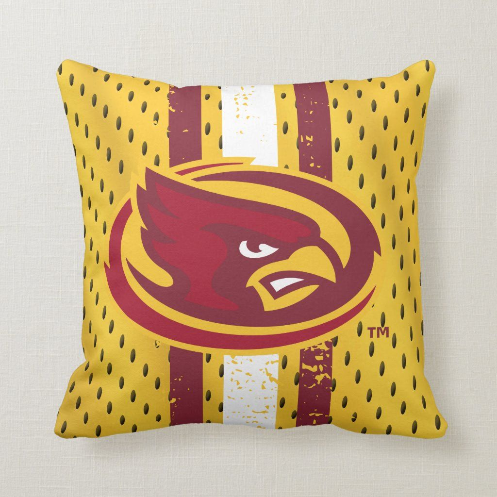 Iowa State University Iowa Logo Jersey Pattern Throw Pillow #iowastateuniversity