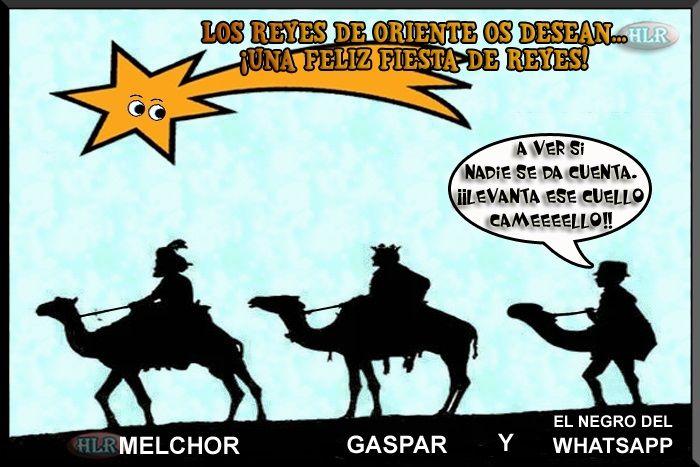 Imagen De Los Reyes Magos Y El Negro Del Whatsapp Humoreo Luego