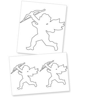 Printable Cupid Cutouts Templates Printable Free Free Craft Patterns Holiday Crafts Diy