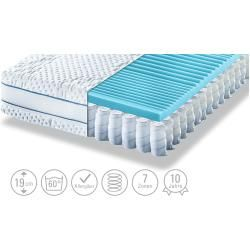 Photo of Möve barrel pocket spring mattress Aqua Med T – white – 140 cm – 19 cm – mattresses & slatted frames>