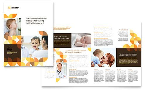 Pediatric Doctor Brochure Template  Brochure Ideas For Project