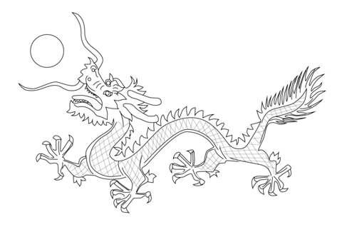 photograph relating to Chinese Flag Coloring Page Printable identify Chinese Dragon towards The Flag of Qing Dynasty Coloring web site