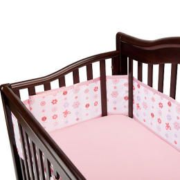 Breathable Baby Breathablebaby Breathable Mesh Crib Bumper Pink Floral Daisy With Images Breathablebaby Baby Bumper Mesh Crib Bumper