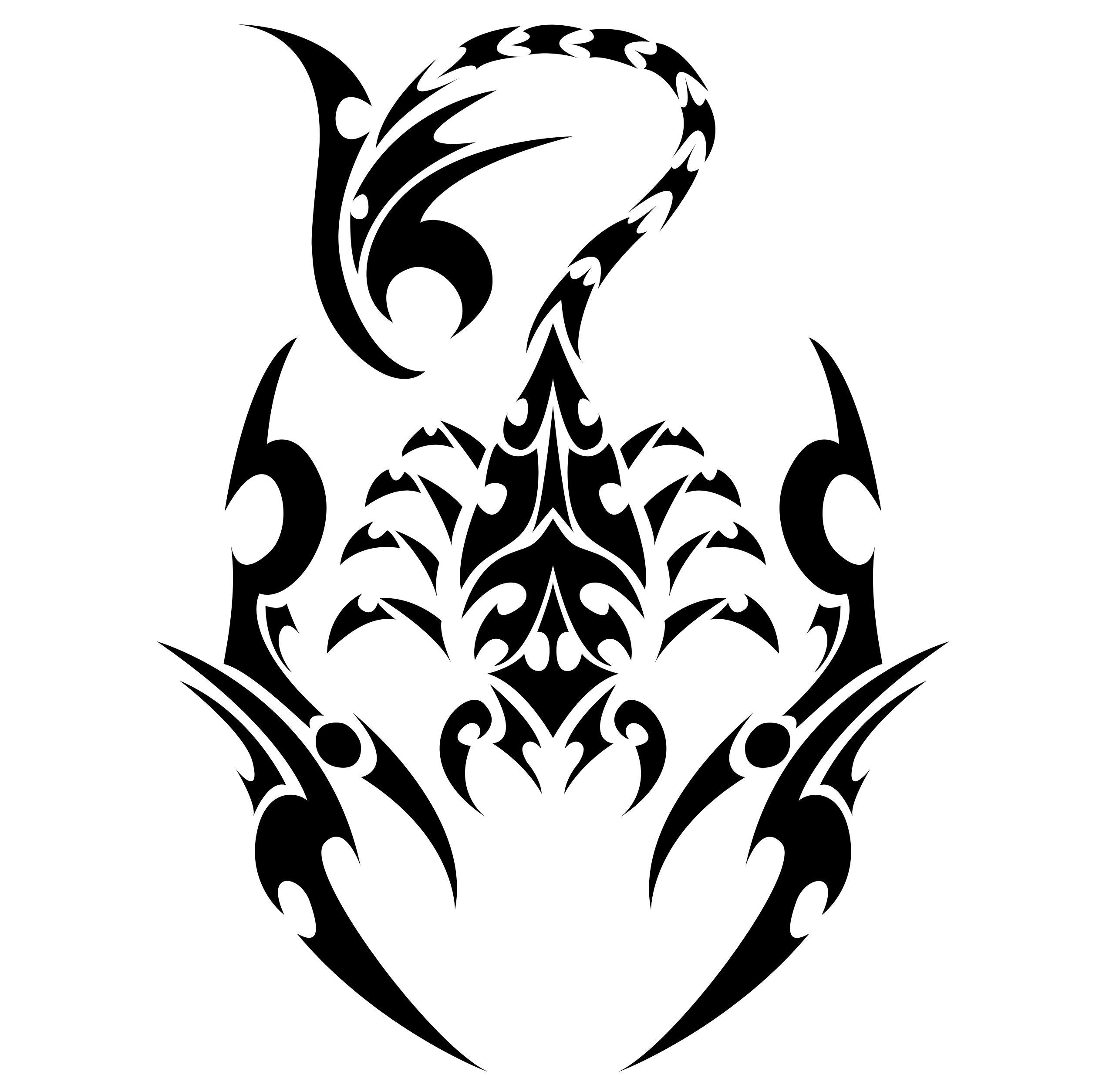 Scorpion Tribal Recherche Google Tattos Tatouage Tatouage