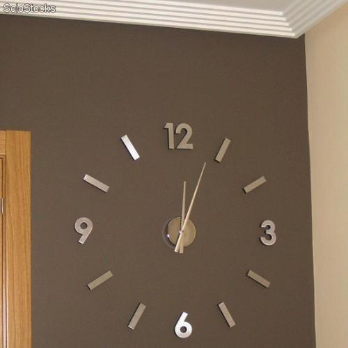 Reloj Adhesivo De Pared Con Diseno Original En Aluminio Barato Relojes De Pared Diseno Pared Disenos De Unas