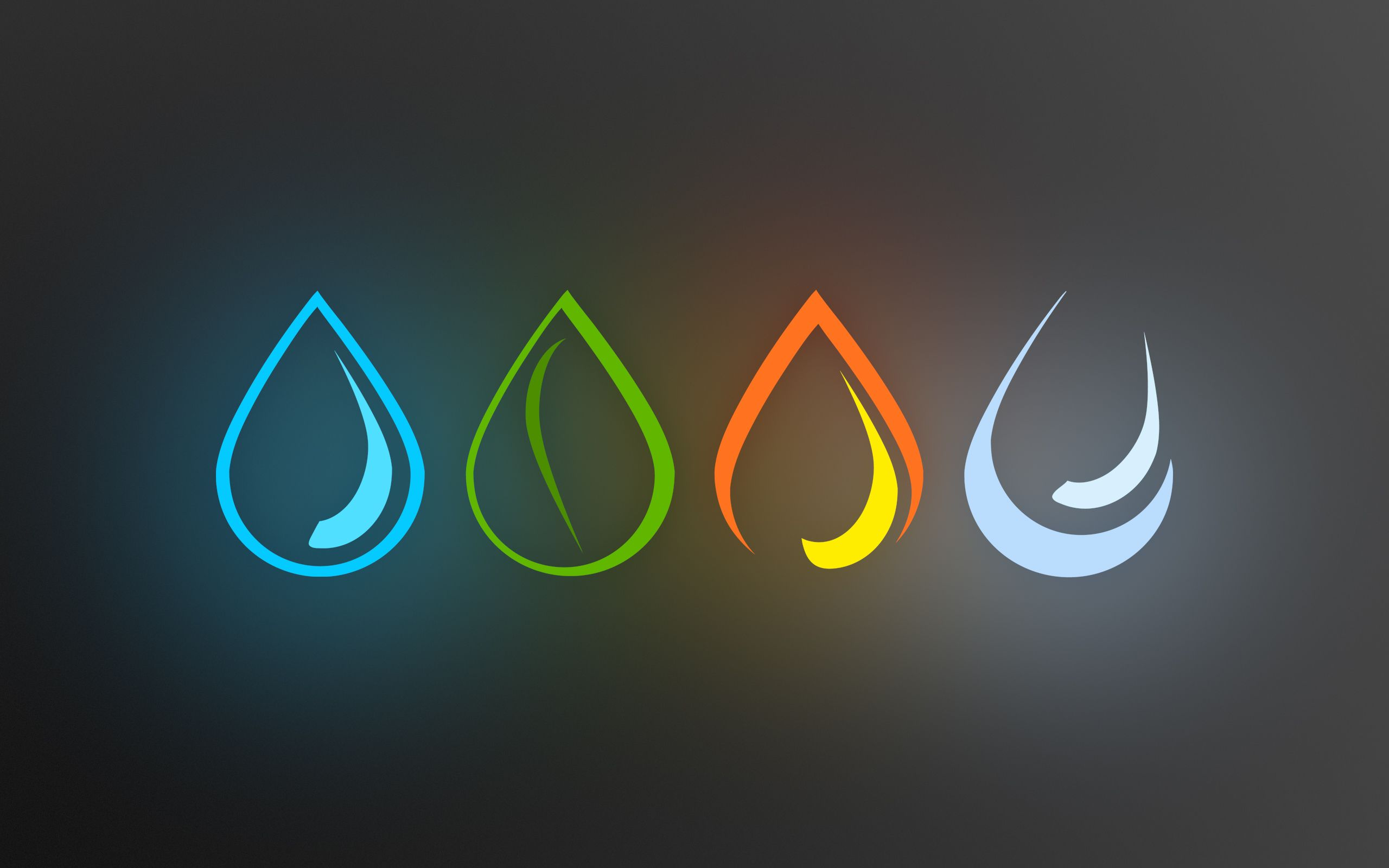 Water Minimalistic Fire Earth Elements Air Four Elements Symbols