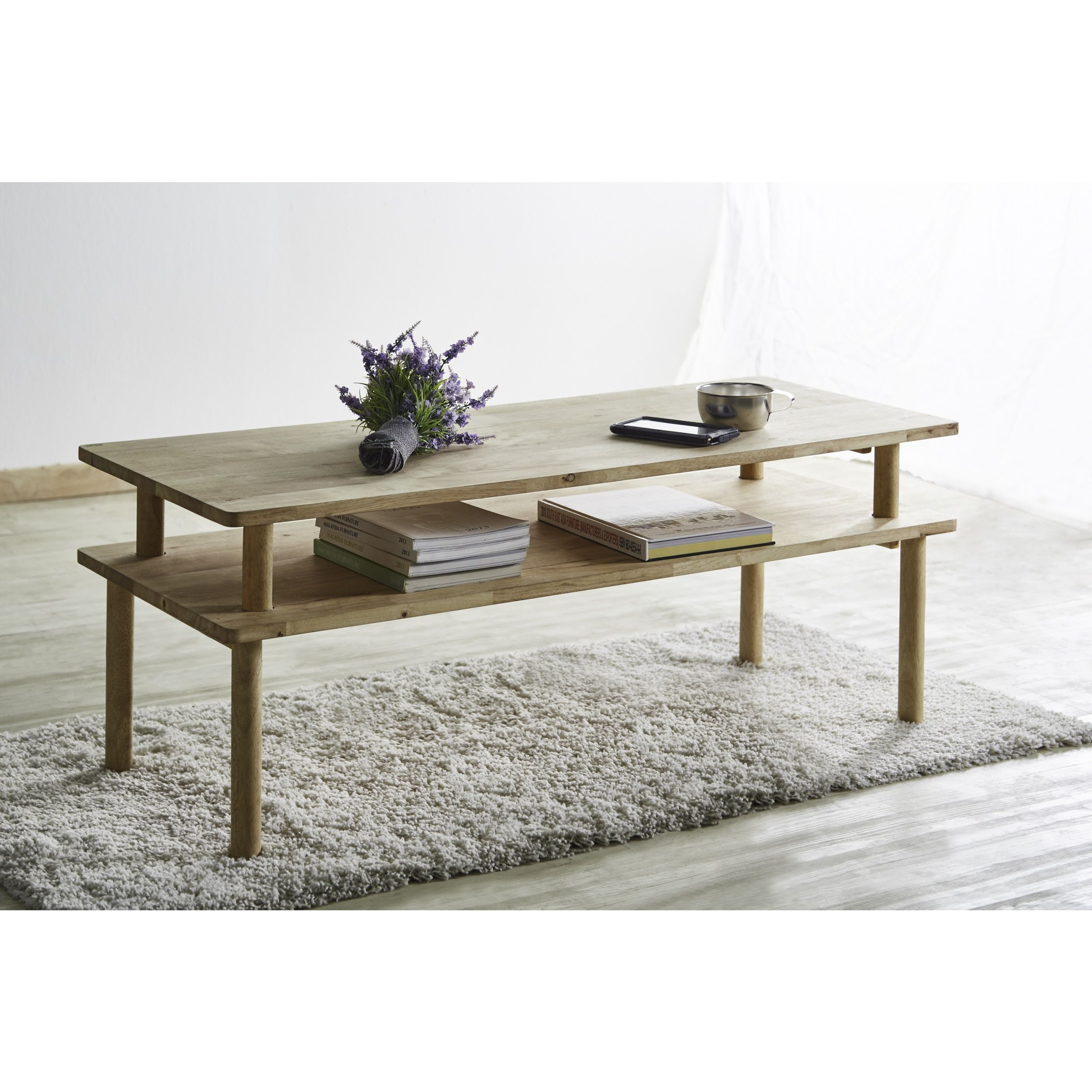 Acme Furniture Darice Natural Coffee Table Coffee Table Natural