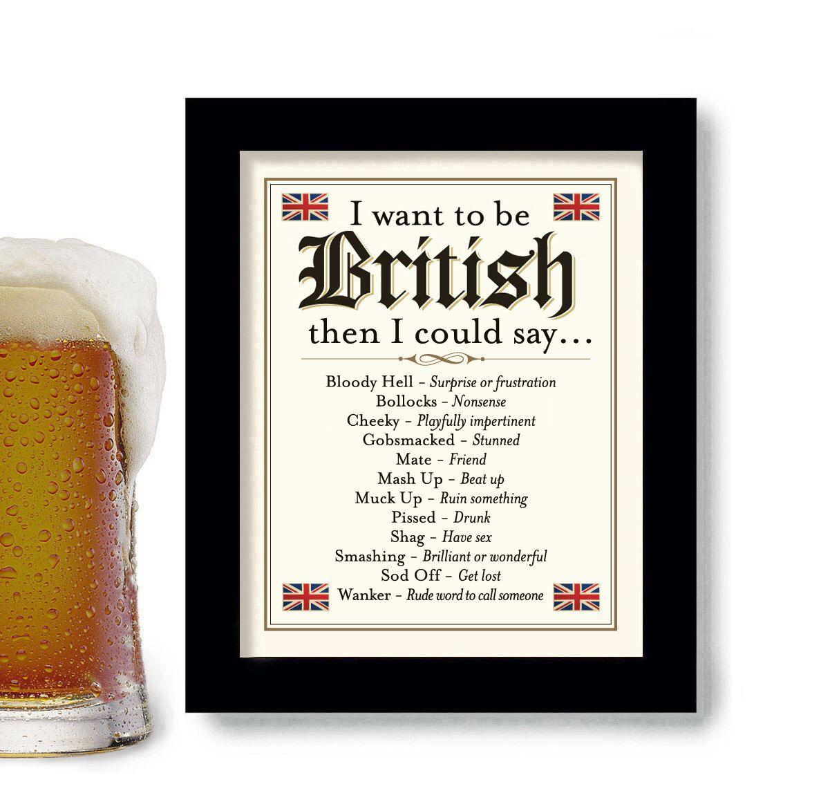 British Decor English Art Gift Idea London Wall Art Bar Etsy Bar Signs Pub Decor London Wall Art