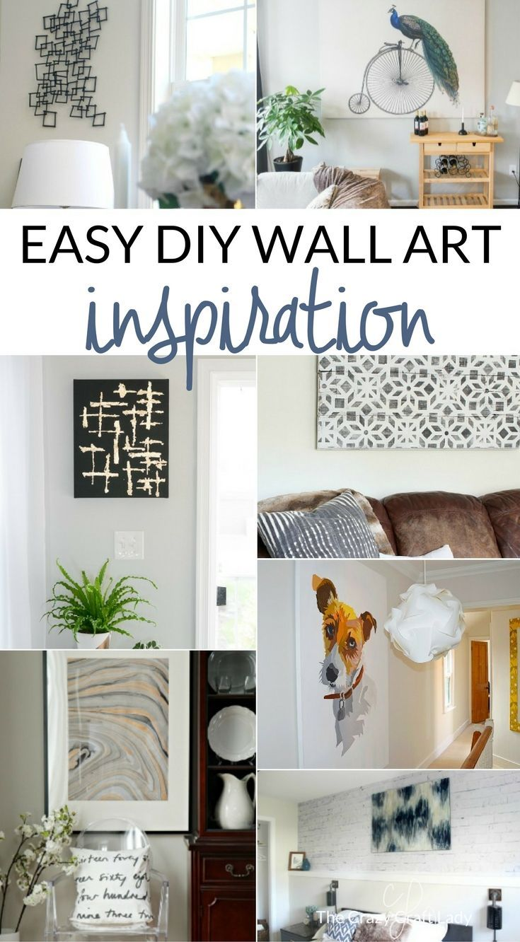 These creative and inexpensive DIY wall decor projects are so easy to make. Try one out this weekend! Large wall art ... & Simple Art Projects You Can Make This Weekend | Pinterest | Simple ...