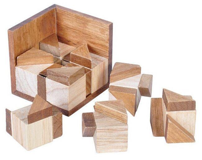 Haute qualité qi esprit 3D Puzzle en bois casse - tête