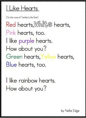 preschool songs great valentines fluency poem use with conversation hearts