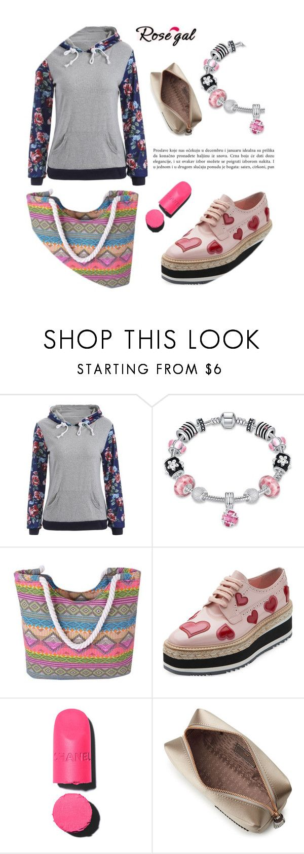 """""""Rosegal"""" by angelstar92 ❤ liked on Polyvore featuring Prada, Chanel, Anya Hindmarch, Spring and circle"""