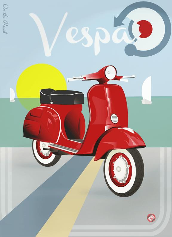 Poster Vespa Vespa Poster Design Illustration Vespa Scooters Vespa Vintage Vespa Retro