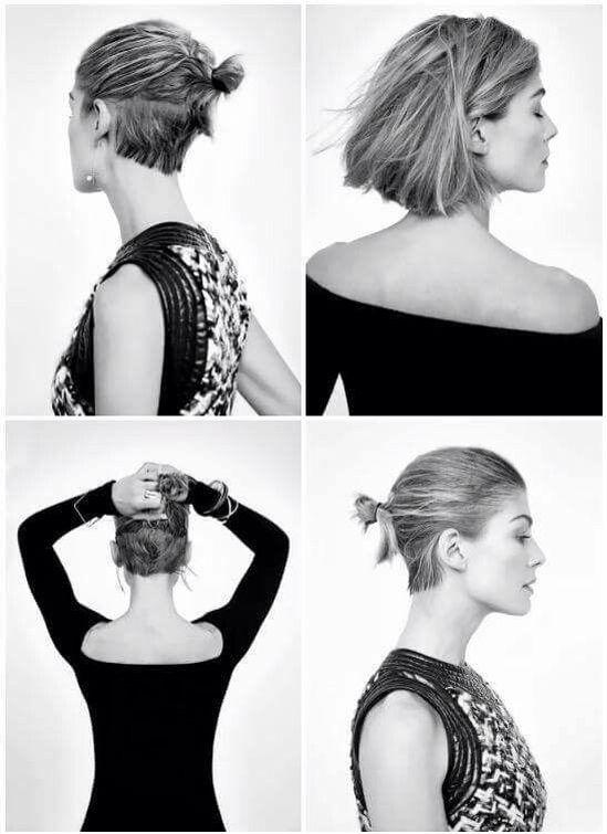 Rosamund Pike Elegant Undercut Hair Styles Short Hair Styles Undercut Hairstyles