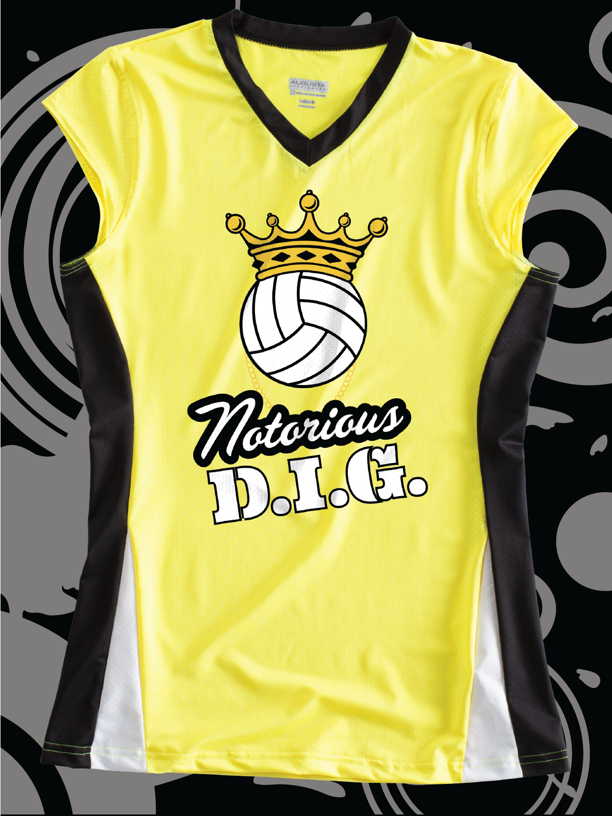 Notorious D I G Funny Design Idea For Custom Volleyball Jerseys Team Shirts T Shirts T Funny Volleyball Shirts Volleyball Shirt Designs Volleyball Shirts