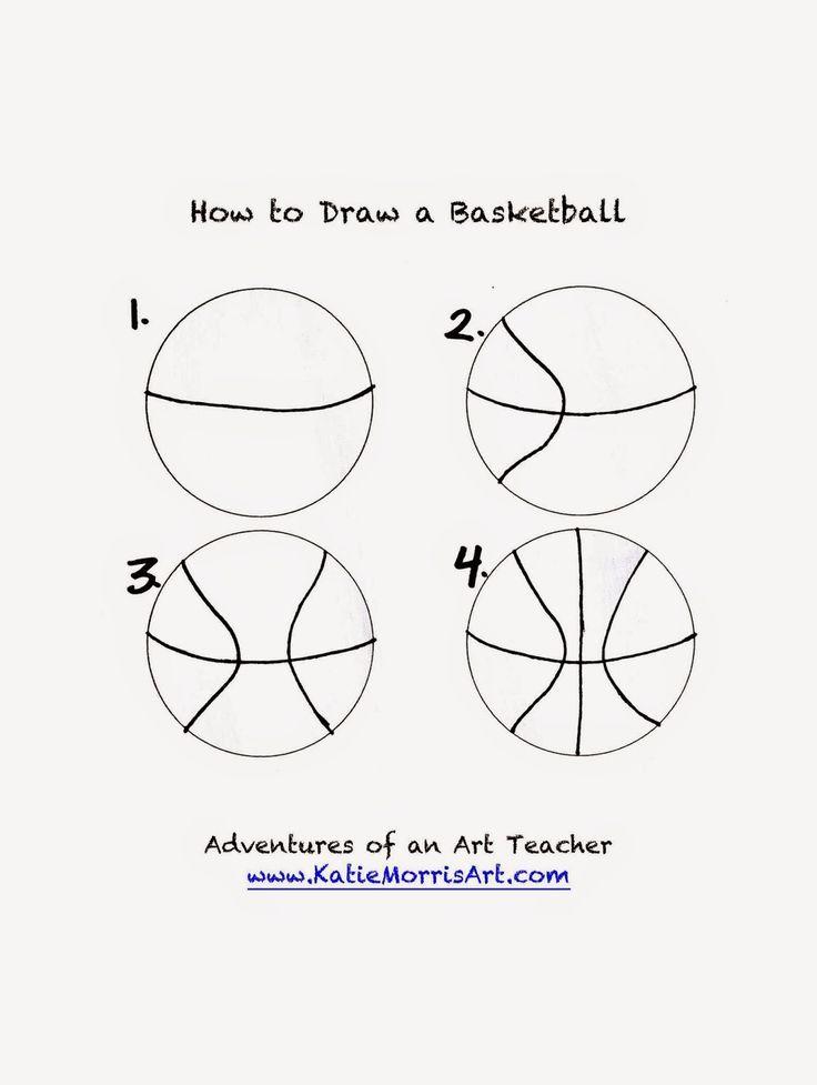 Adventures Of An Art Teacher How To Draw Sports Basketball Crafts Basketball Party Basketball