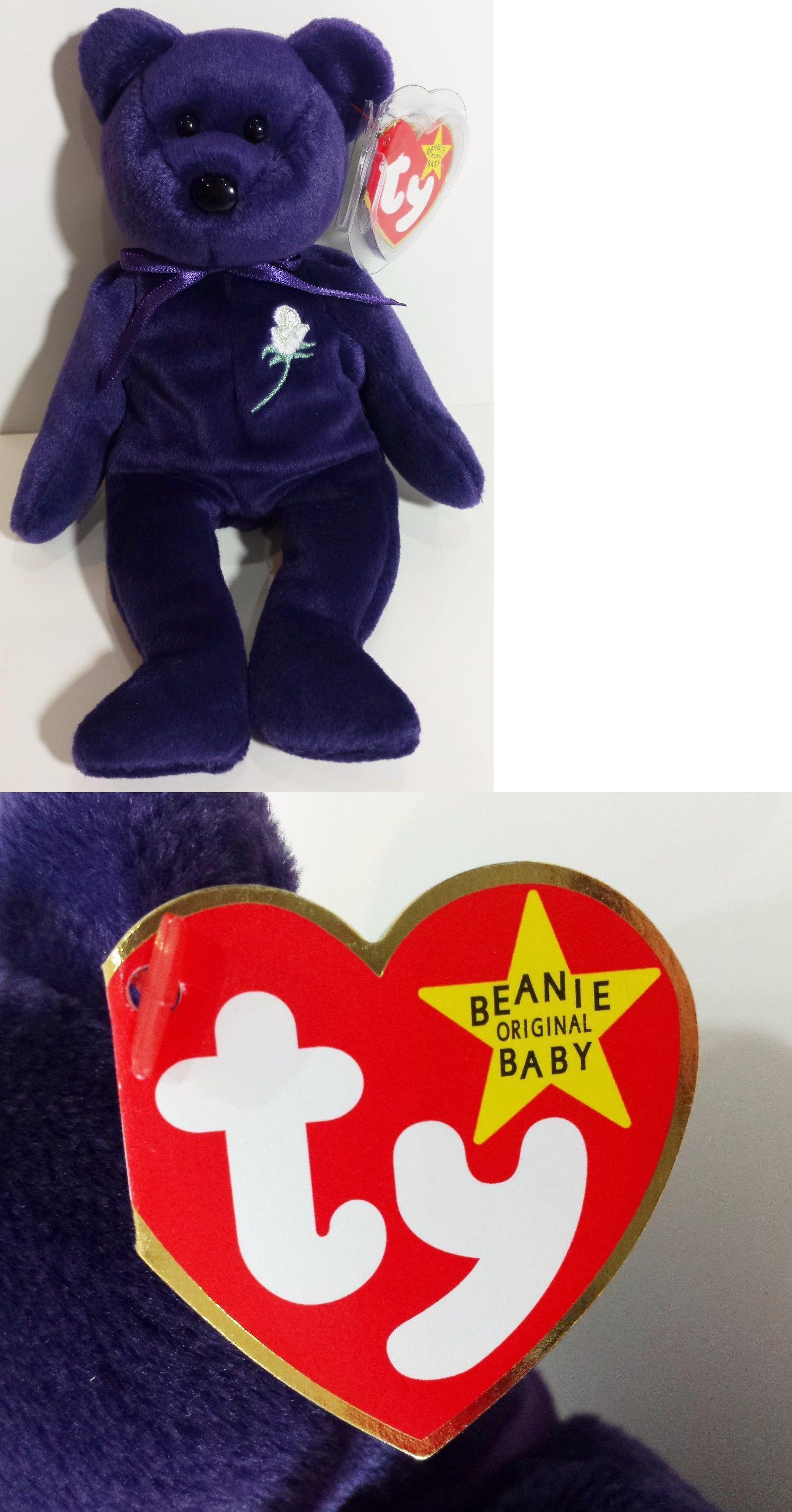 572ac2f8388 Retired 440  Ty Beanie Baby ~ Princess The (Diana) Bear From 1997 ~ Rare  And Retired! Mint!!! -  BUY IT NOW ONLY   16.95 on  eBay  retired  beanie   princess