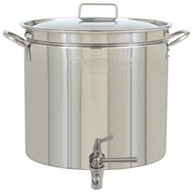 Crawfish Pot With A Drain Spigot Time For A New Drain Hole In The Patio Products I Love Stainless Steel Kettle Steel Stock Pot Lids