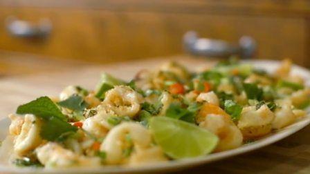 Bbc food recipes tempura squid and prawns with coriander salsa bbc food recipes tempura squid and prawns with coriander salsa forumfinder Gallery