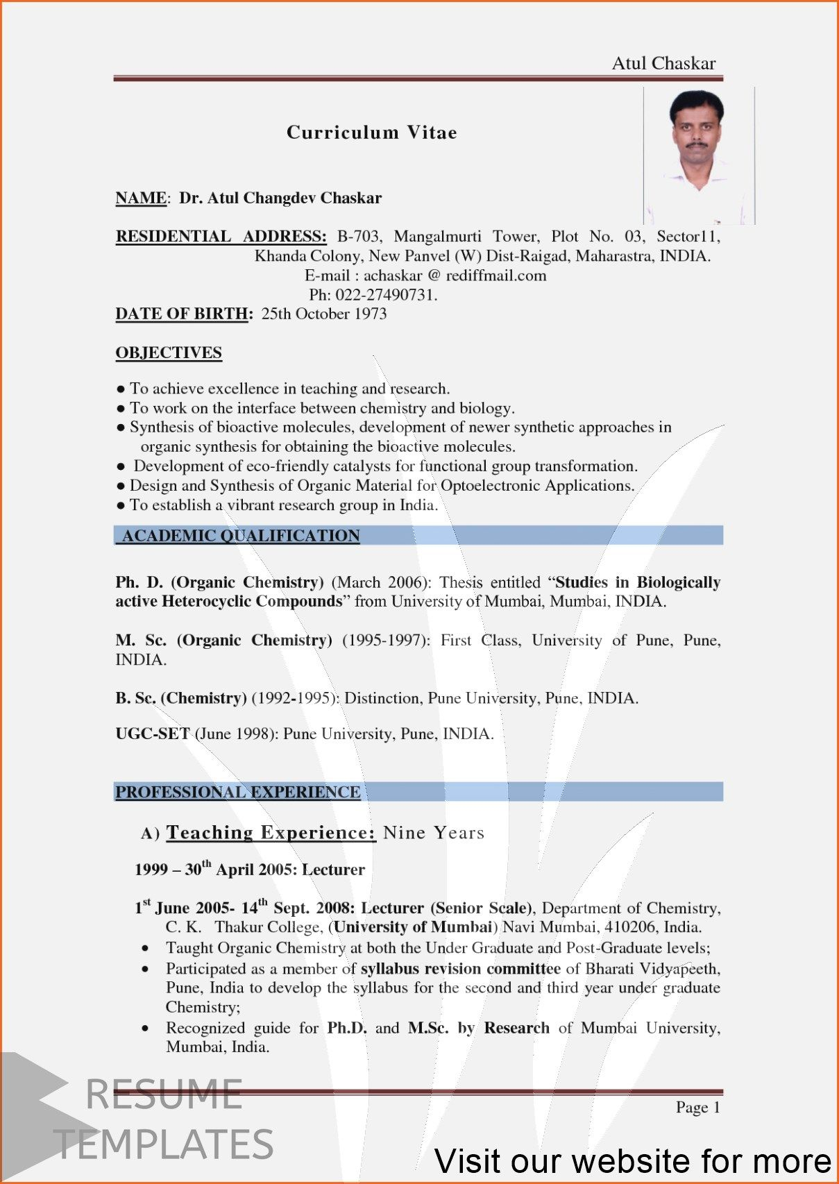 resume examples for job Professional in 2020 Job resume