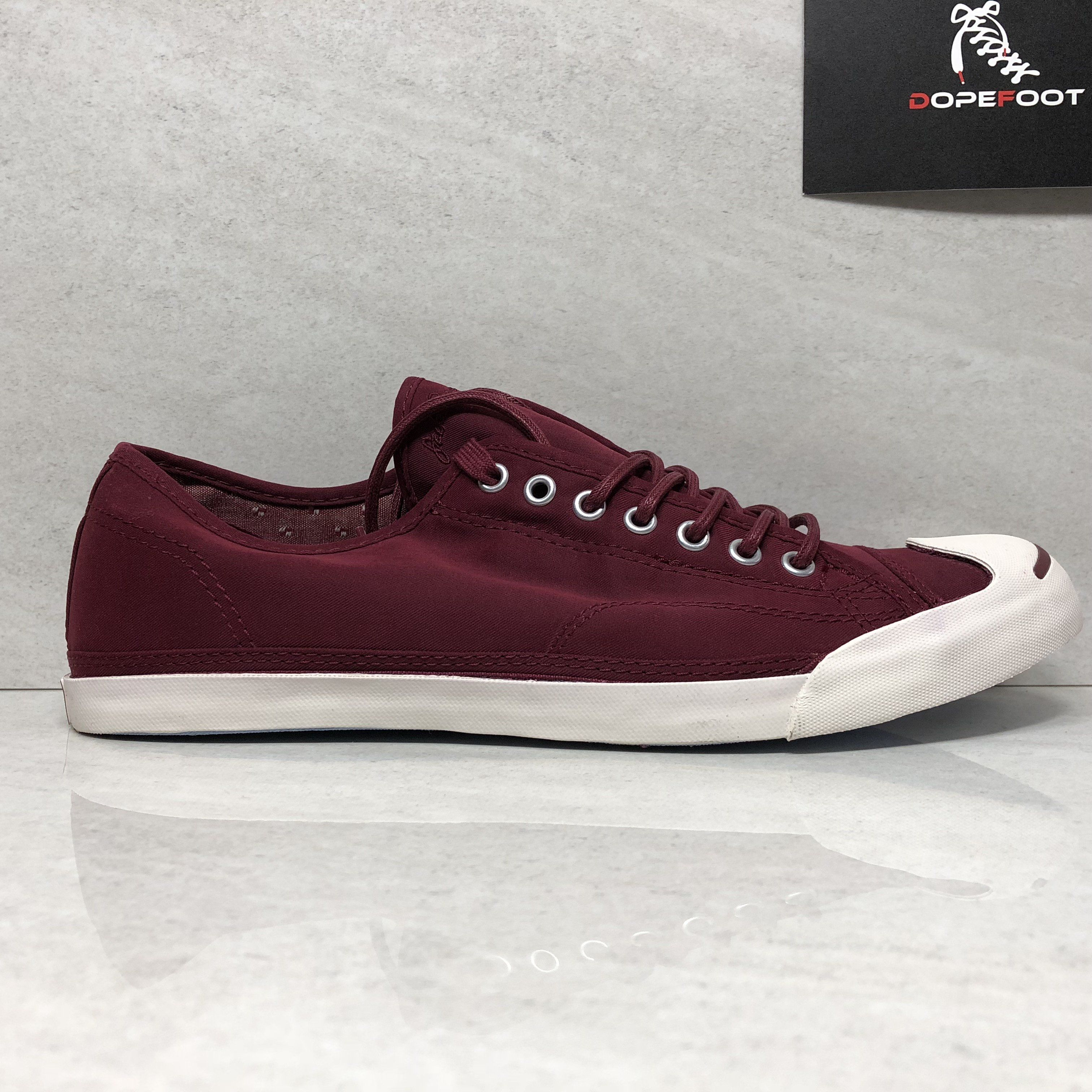 67472618d5ac7a DS Converse Jack Purcell Size 11 JP LS Low Profile Slip-On Ox Burgundy  148359C