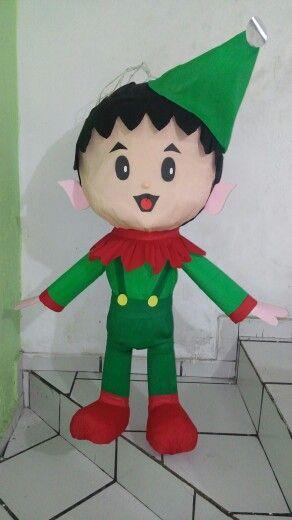 Duende Piñatas Navidad Piñatas Faciles Piñata De Granja