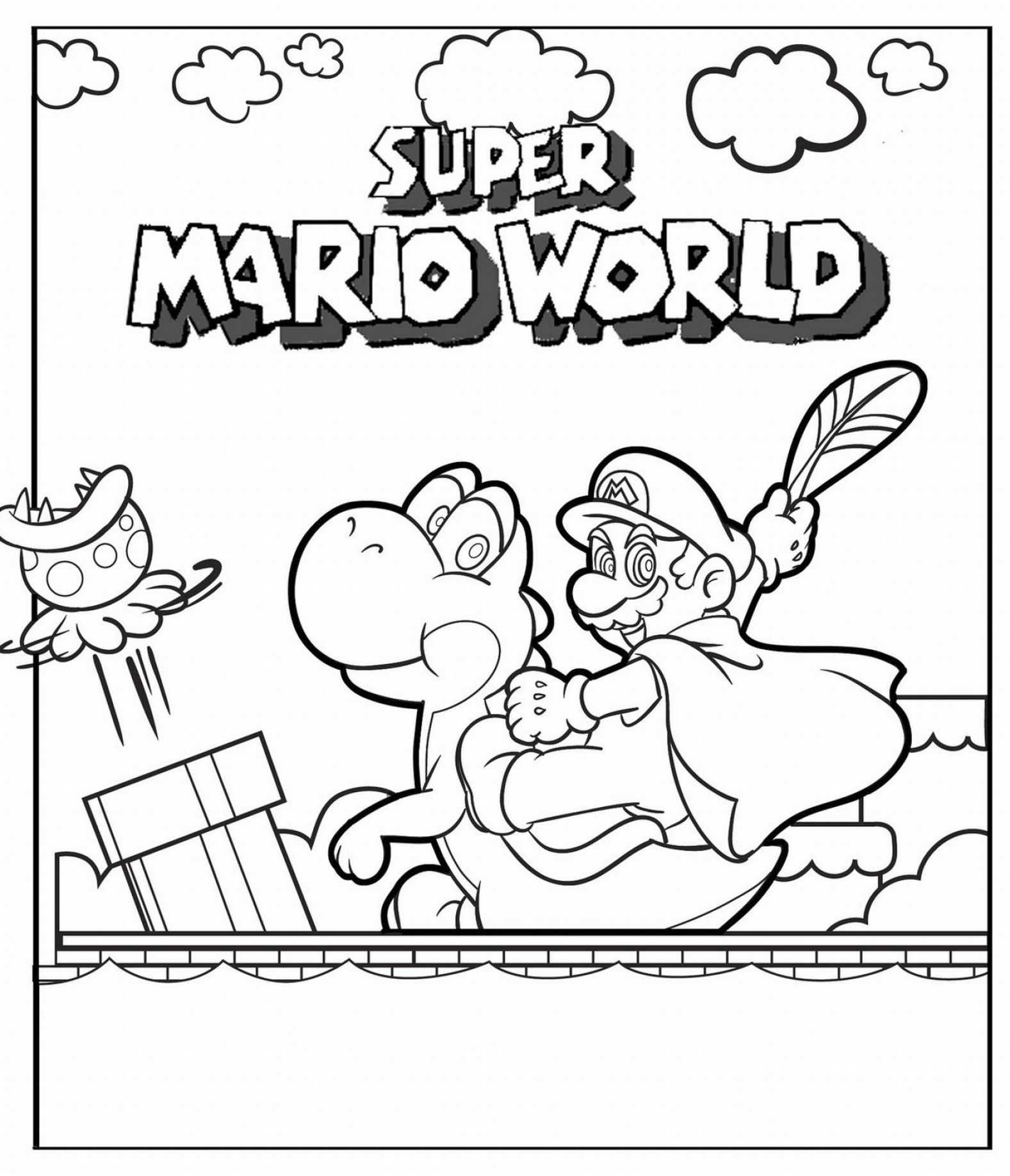 free printable coloring pages of mario characters 2 | Projects to ...