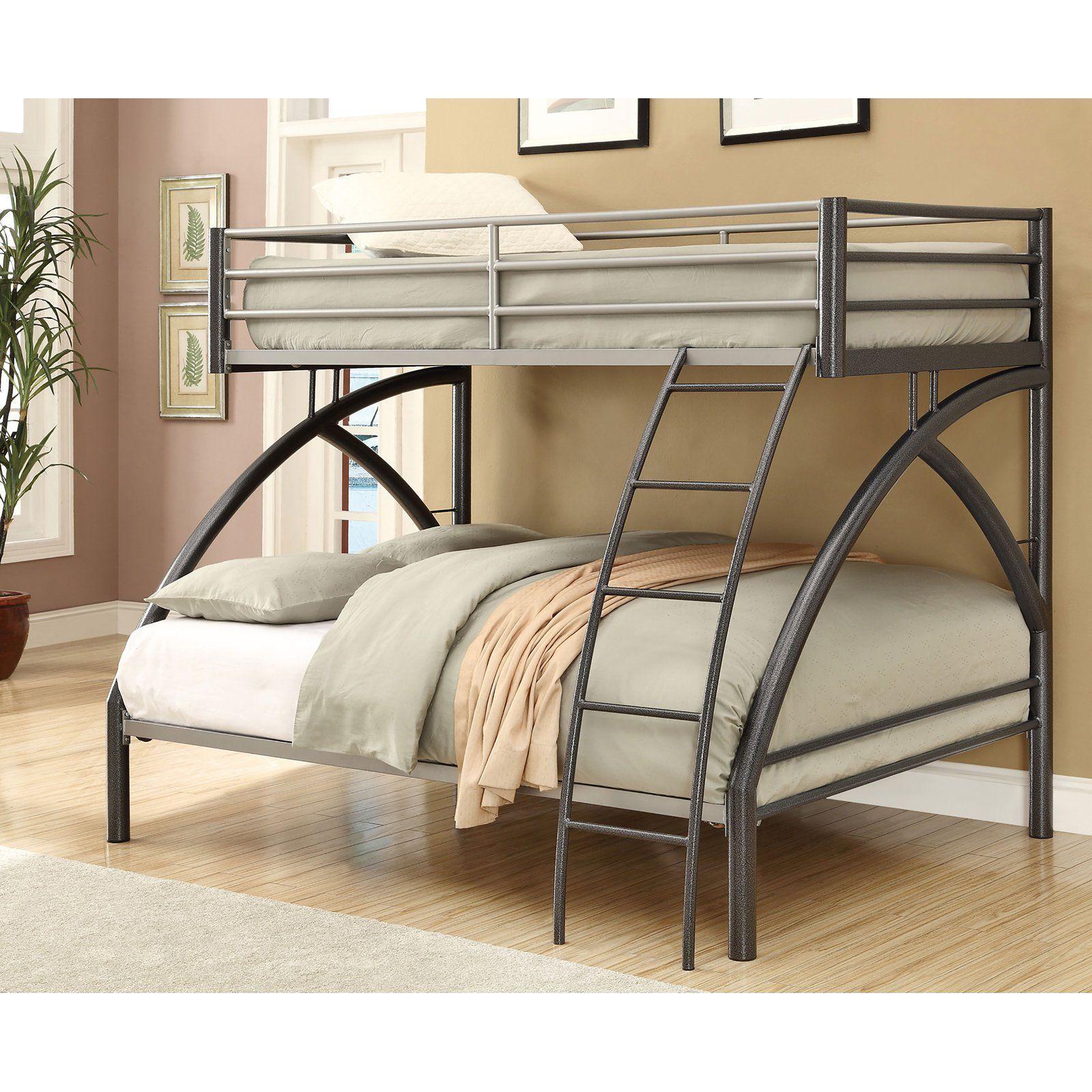 Coaster Furniture Twin over Full Contemporary Bunk Bed - Dark Gun ...