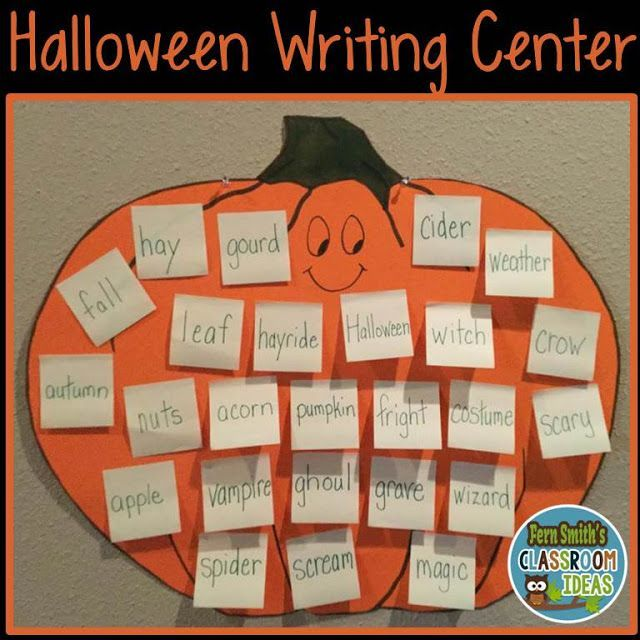Seasonal Writing Centers Writing centers, Teacher and Elementary - halloween writing ideas