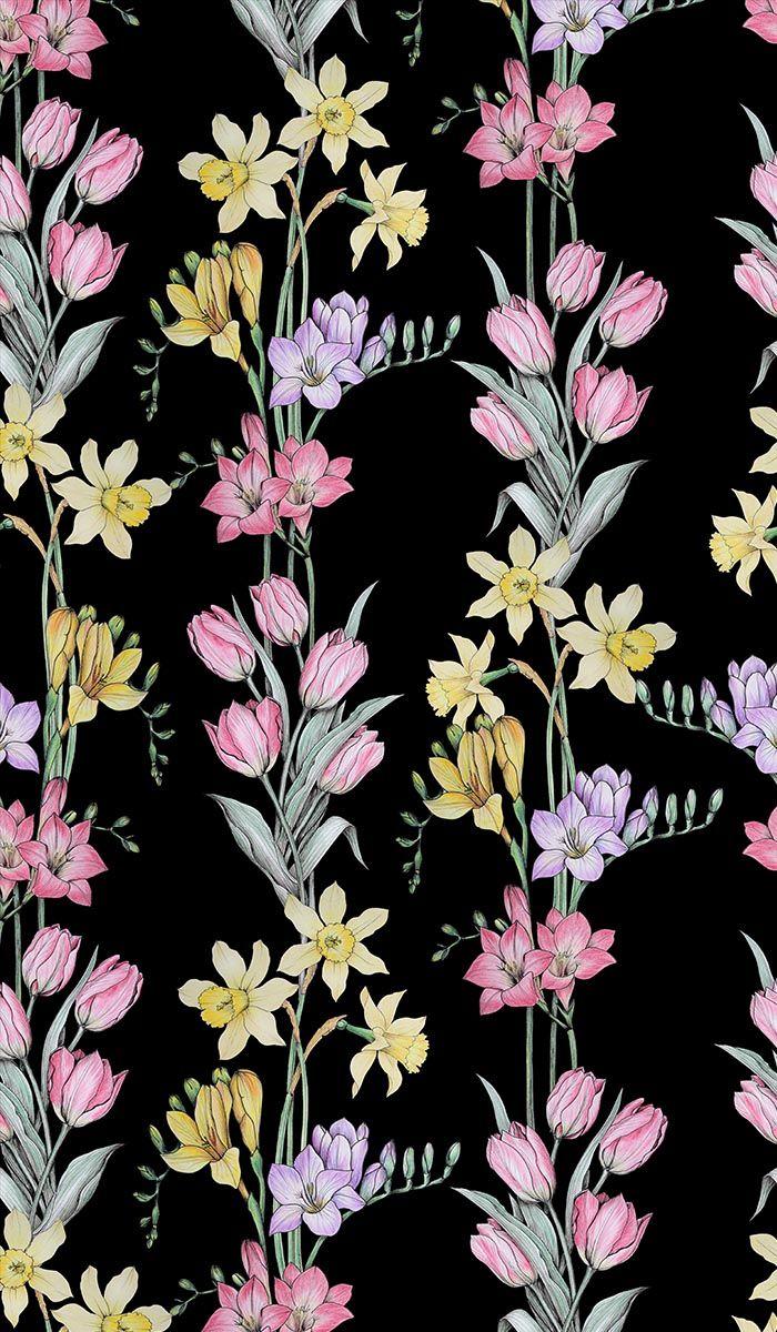 Пин на доске Wallpaper floral drawing