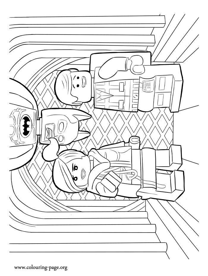 Lego Coloring Pages Wyldstyle And Emmet Together - Lautigamu