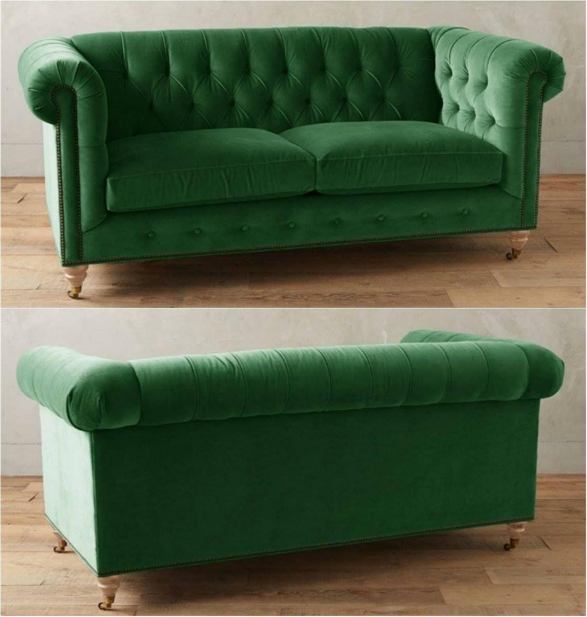 Green Tufted Velvet Chesterfield Sofa Green Sofa Design Green