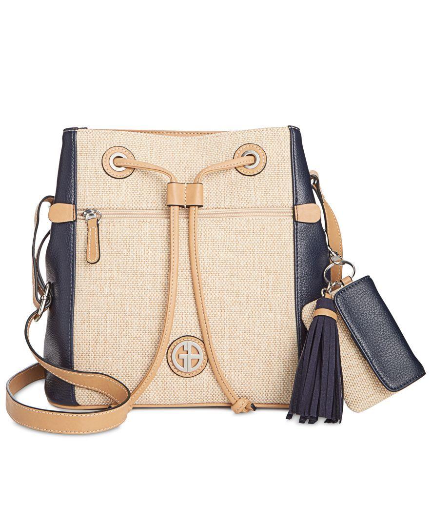 Giani Bernini Contrast Bucket Bag, Only at Macy's