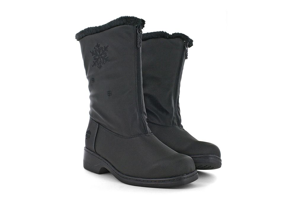 Womens Totes Staride 2 Front Zip Boot Black