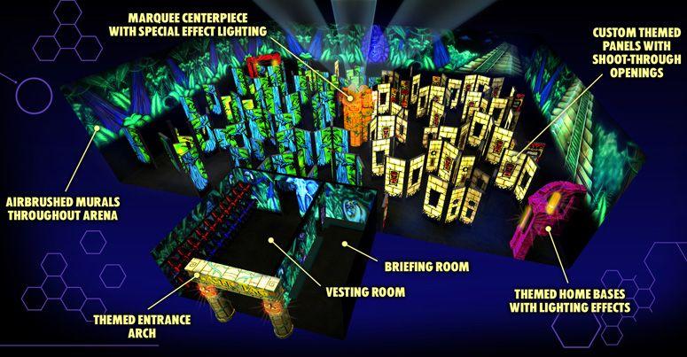 Laser Tag Floor Plan: RUSH - Laser Tag Arenas Master Builders