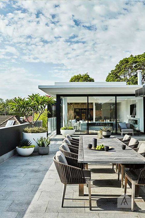 10 Stunning Garden Roof Terraces Award Winning Contemporary Concrete Planters And Sculpture By Roof Terrace Design Roof Garden Design Rooftop Terrace Design