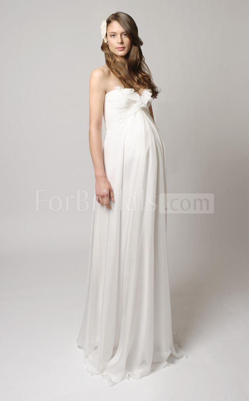 White maternity wedding dress  Maternity Wedding Gowns  Pregnancy Baby Bump Dresses  Pinterest