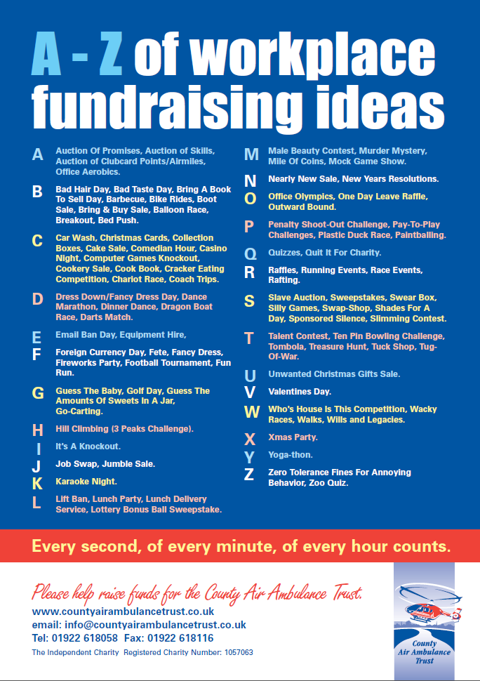 workplace fundraising ideas nice list of ideas for raising funds