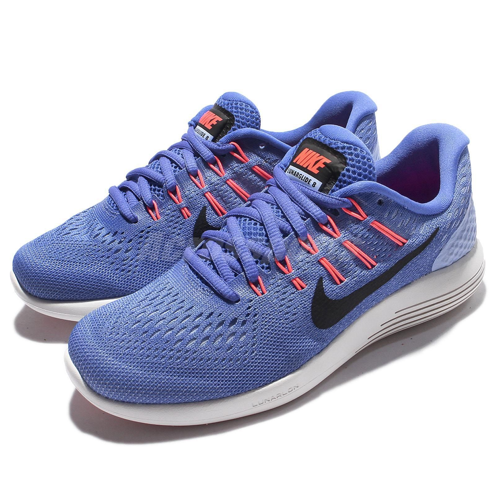 f604e84c8b1dbd ... discount code for wmns nike lunarglide 8 viii blue black women running  shoes sneakers 843726 406