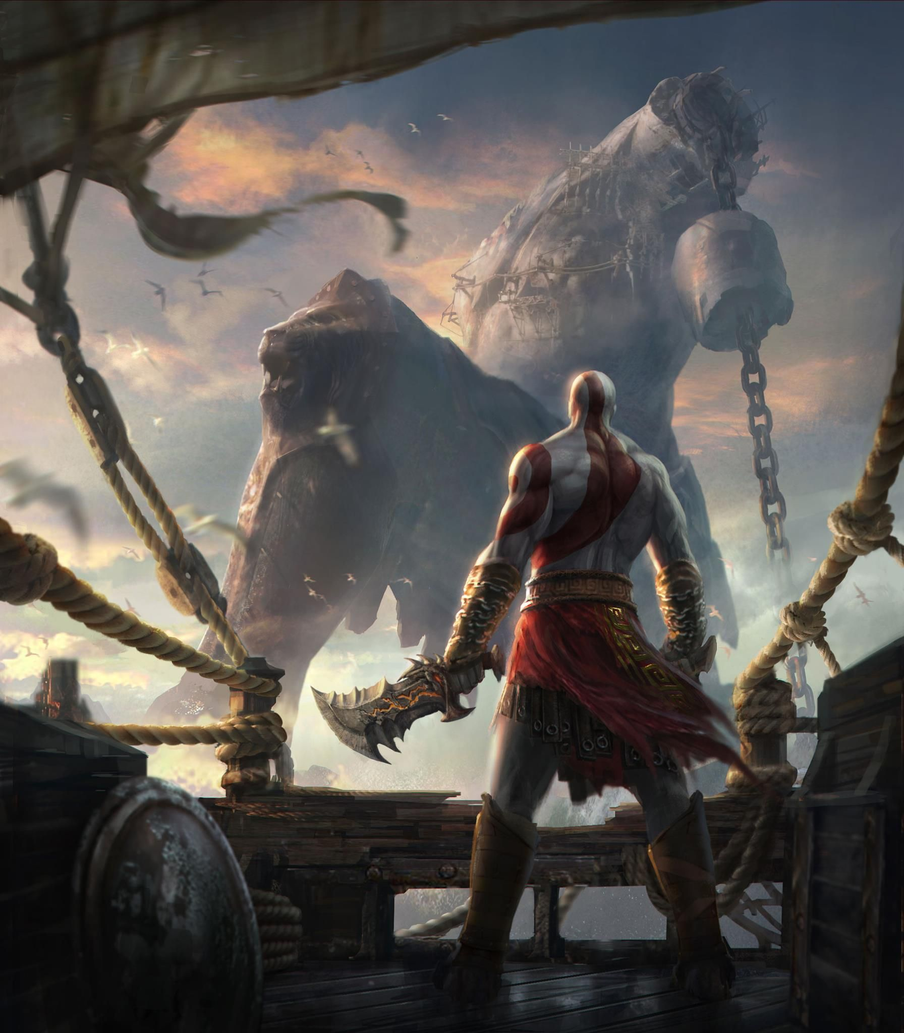 God of war ascension ares god trailer p truehd quality god of war concept art artwork chains blades kratos god of war ascension wallpaper voltagebd Image collections